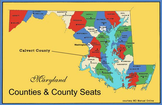 Maryland Counties & County Seats